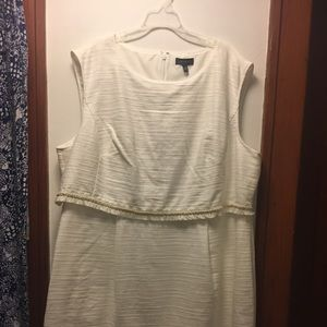 The Limited White Tweed Dress Size 24